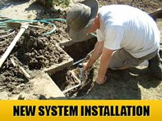 a new sprinkler system installation